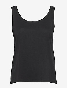 Flow Deep Back Tank - tank tops - black