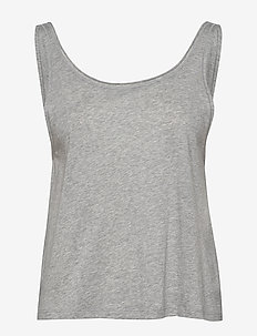 Flow Deep Back Tank - tank tops - light grey