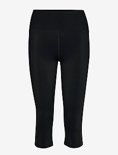 Cropped Legging - running & training tights - black