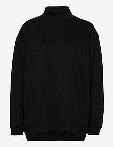 Oversized Brushed Sweatshirt - sweatshirts - black