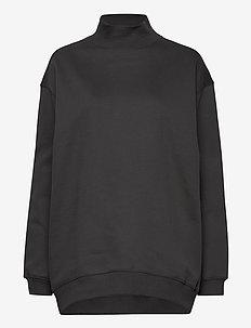 Oversized Brushed Sweatshirt - bluzy i swetry - metal