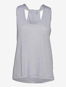 Twist Layer Tank - tank tops - silver gre
