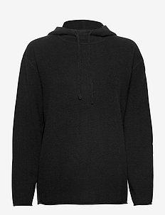 Cashmere Hoodie - jumpers - black