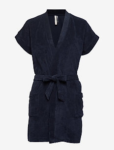 Terry Jersey Kimono - NAVY