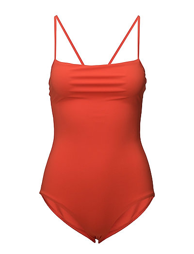 Strap Swimsuit - POP ORANGE