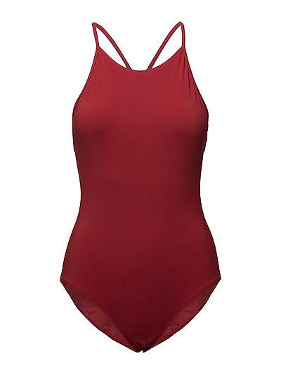 Athletic-cut Swimsuit - ROUGE