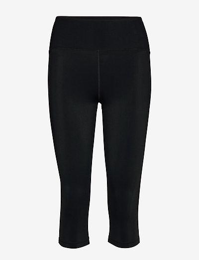Cropped Legging - running & training tights - black