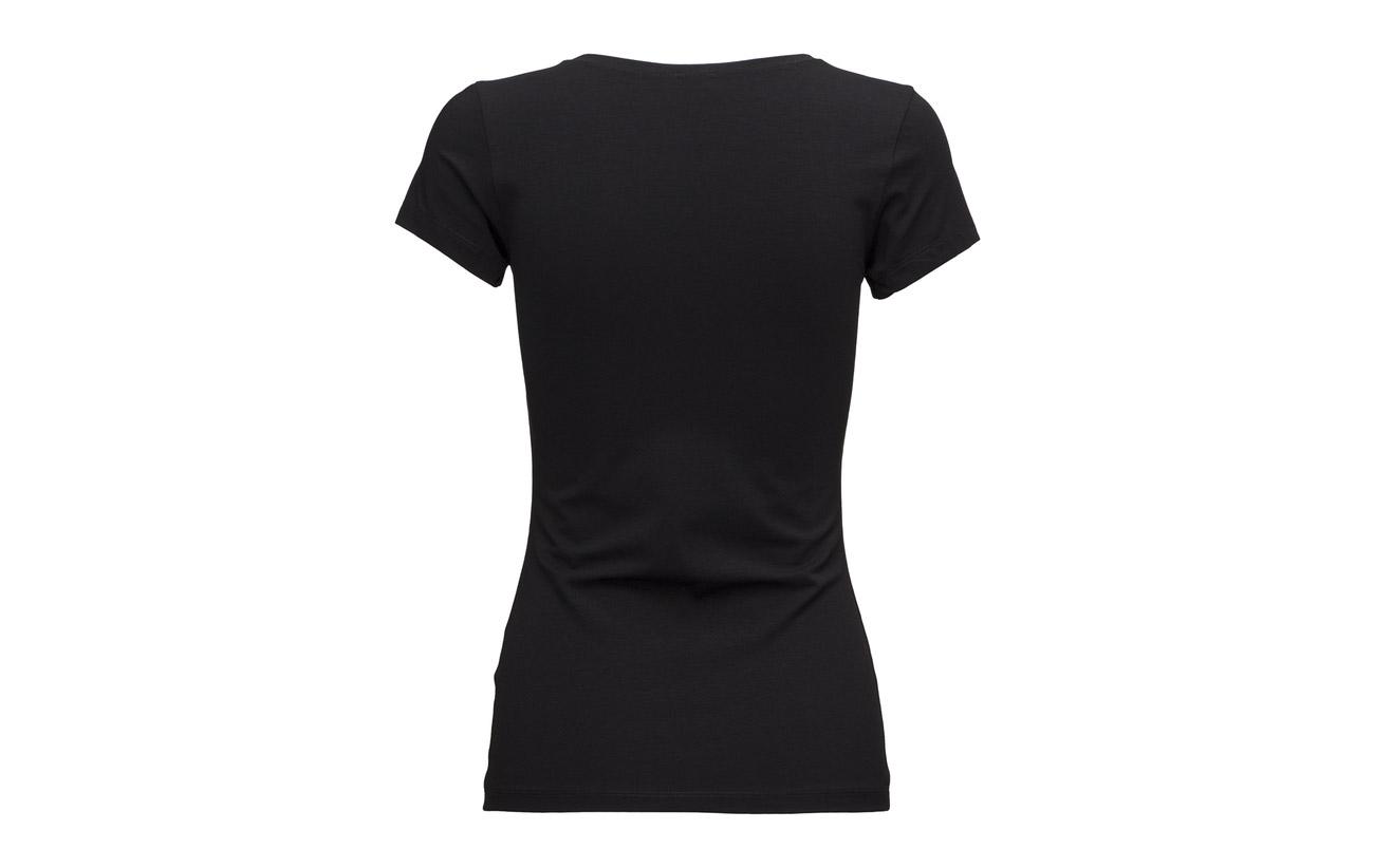 90 shirt 10 Black Elastane Filippa T Fine K Coton Lycra xU8nqIwYH