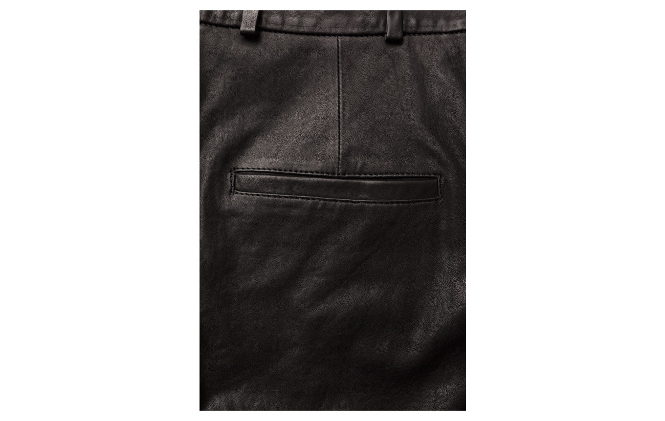 K Black 100 Nappa Leather Cropped Pant Filippa Lamb Sd47zqz