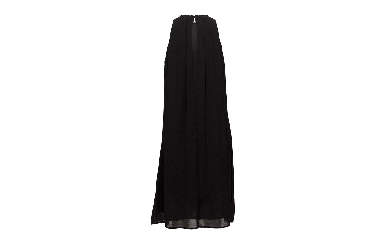 Filippa 82 K Polyamide Dress Crinkle Black Flowy Viscose 18 raTXrwU