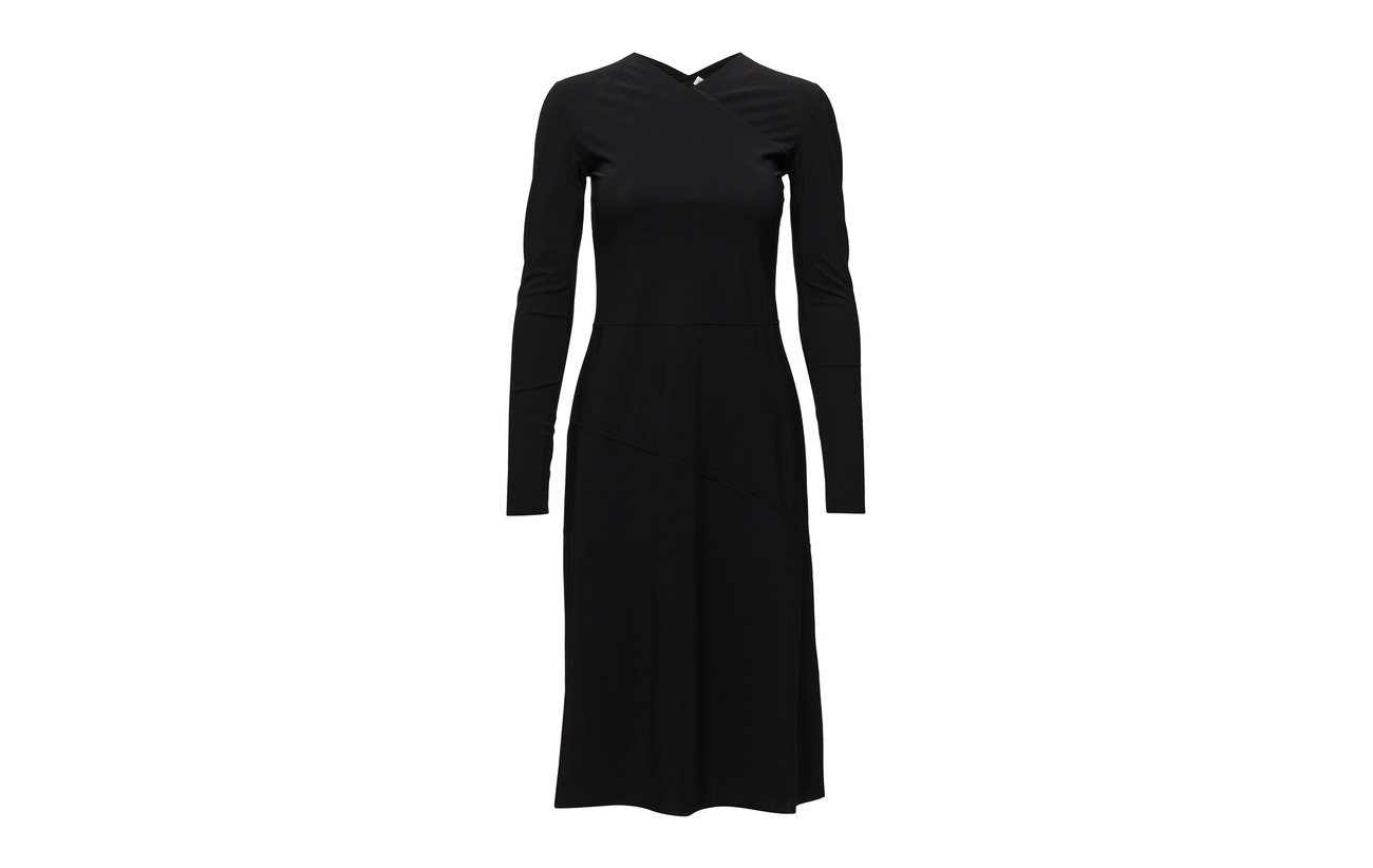 Filippa Dress Navy Seam 73 27 Flared Polyamide K Elastane 4rtrB6