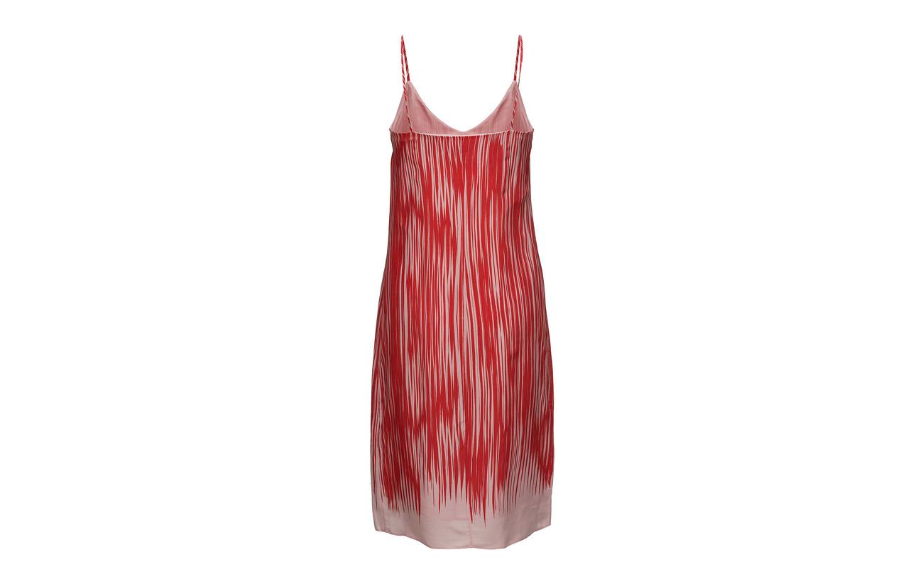 Strappy Filippa Print K 37 Viscose Soie 63 Red Dress Abstra OxxRqwv