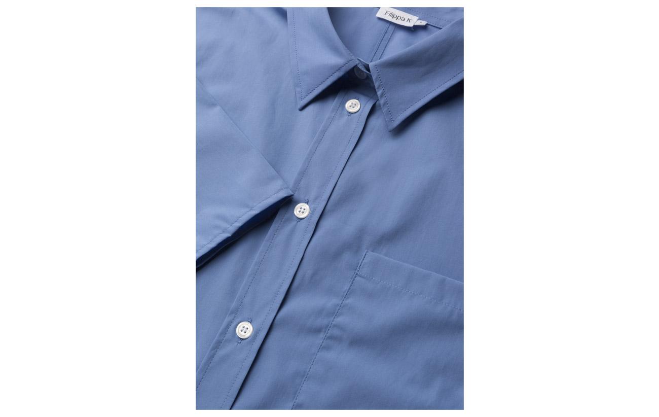 Coton Filippa Pima 100 K Équipement Poplin Navy Shirt RwYa1Pqw