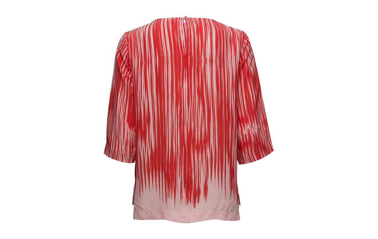 K 63 Filippa Soie Printed Abstra Tee Viscose Drapey Red 37 gwdYPx