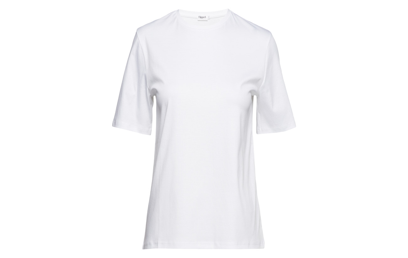 100 Dressed K White Tee Filippa Mercerized Cotton Coton qRYdttxUw