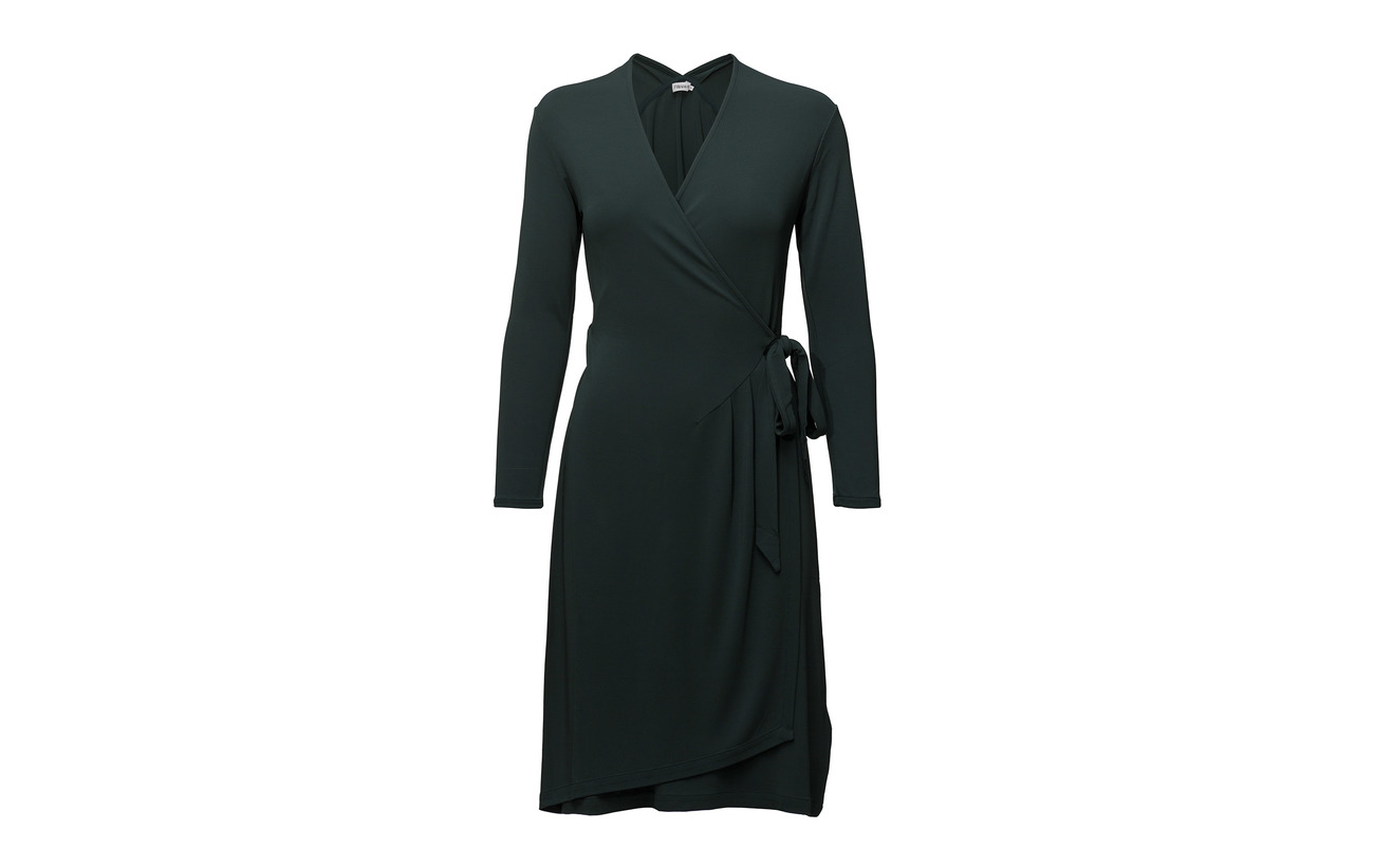 K 3 Crepe Drapey Viscose 97 Dress Elastane Wrap Filippa Navy vxFU7Fw