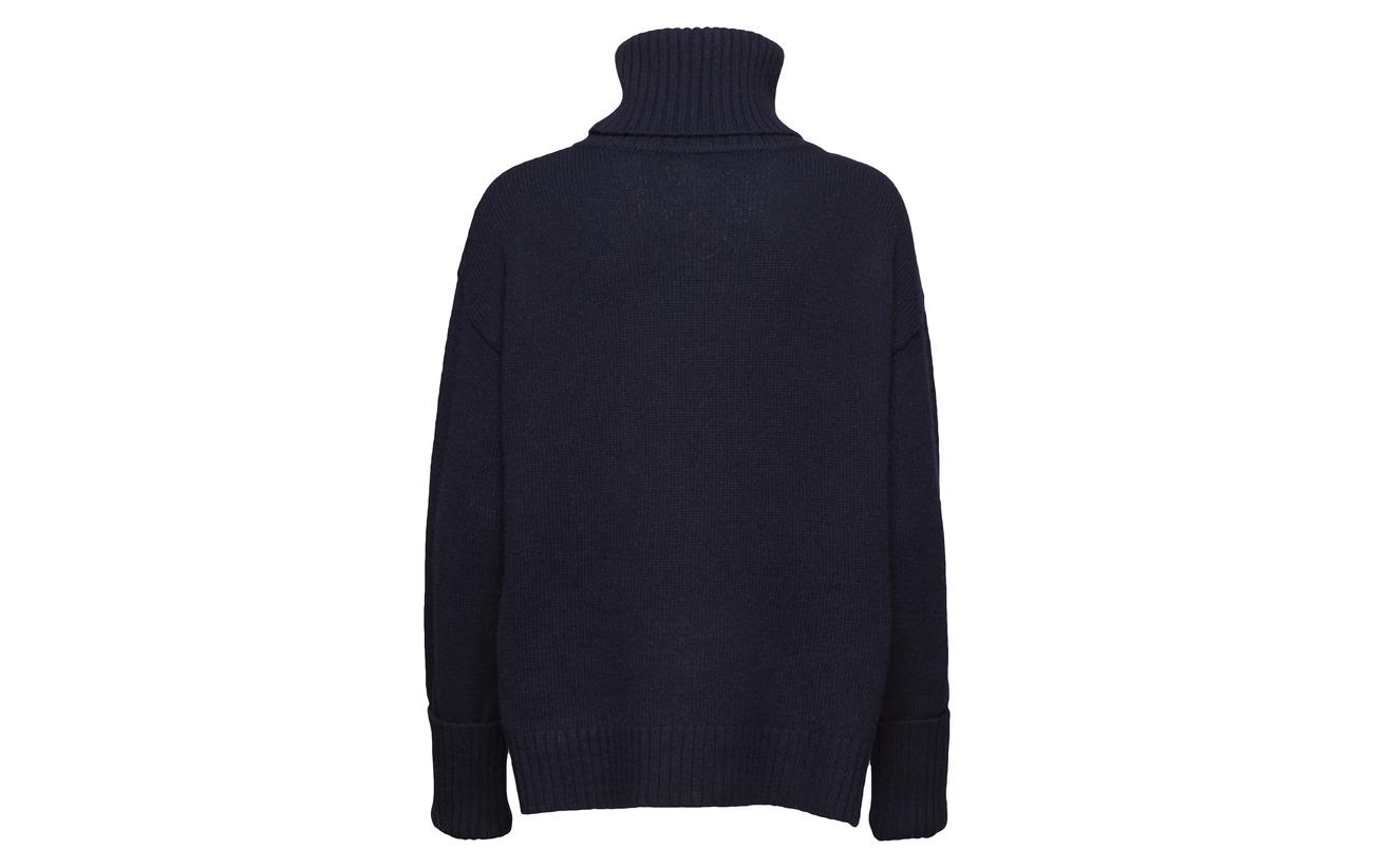 Sweater K Neck 100 Laine Navy Roller Filippa Chunky pPBxRnn
