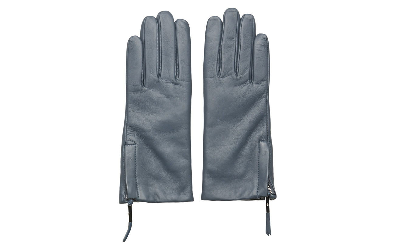 Filippa K Zip Gloves - BLUE SLATE