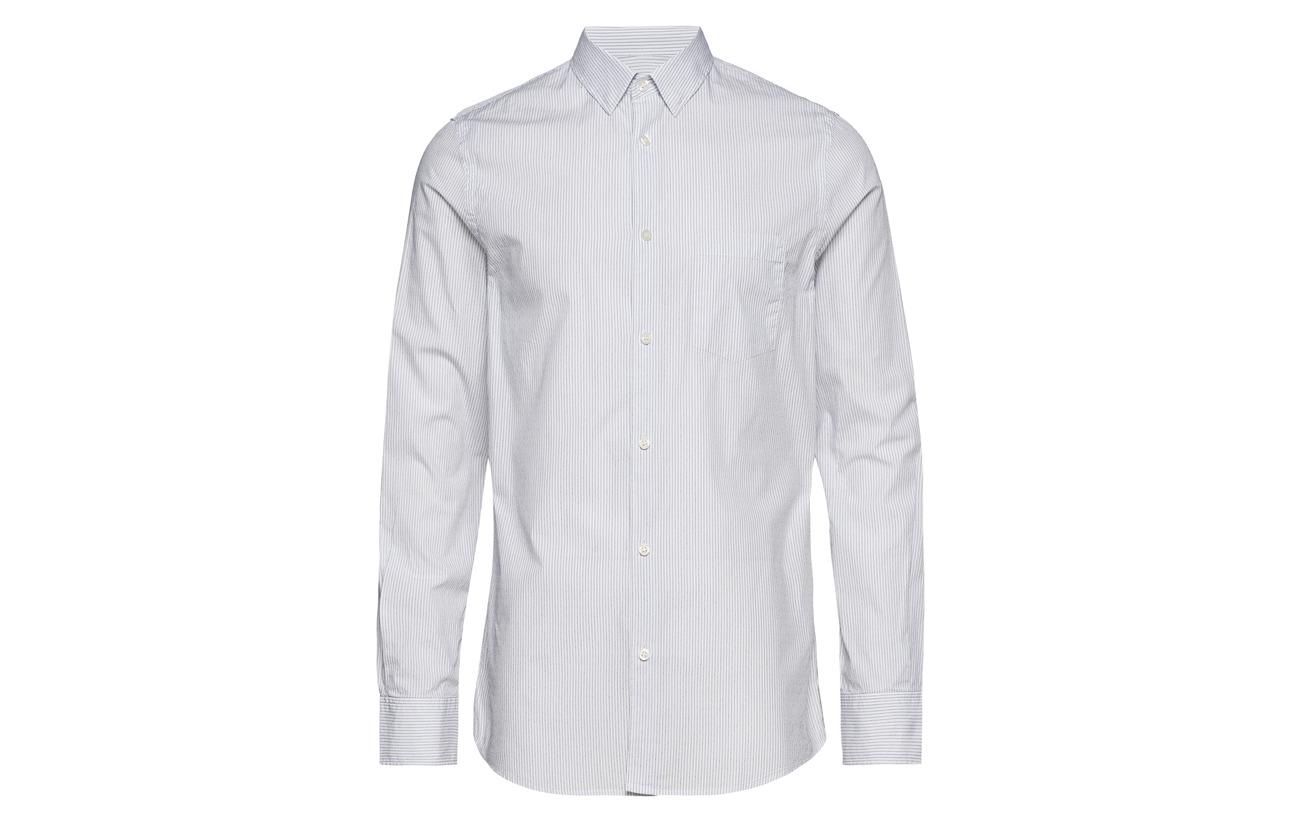 M Washed Striped Tim white Shirt Filippa K Blue TqwnavxtUW