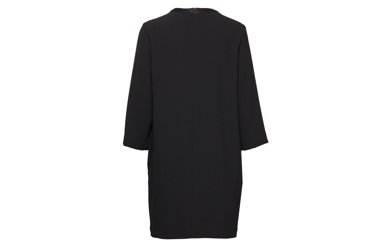 Satin Dress Filippa Équipement Crepe K Polyester 82 18 Black Triacetate ptt5wgxqU