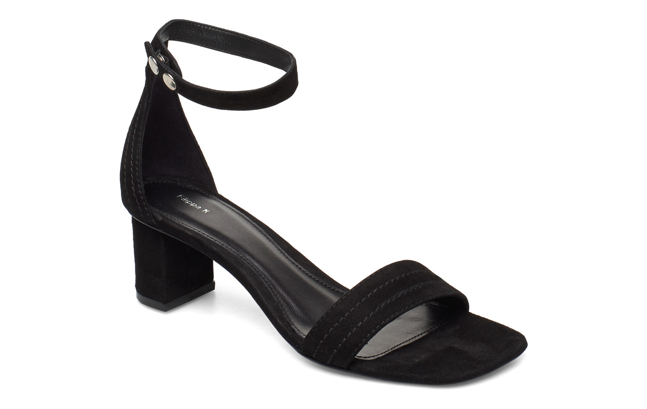 Filippa K Belinda Mid Heel Sandal - BLACK SUED