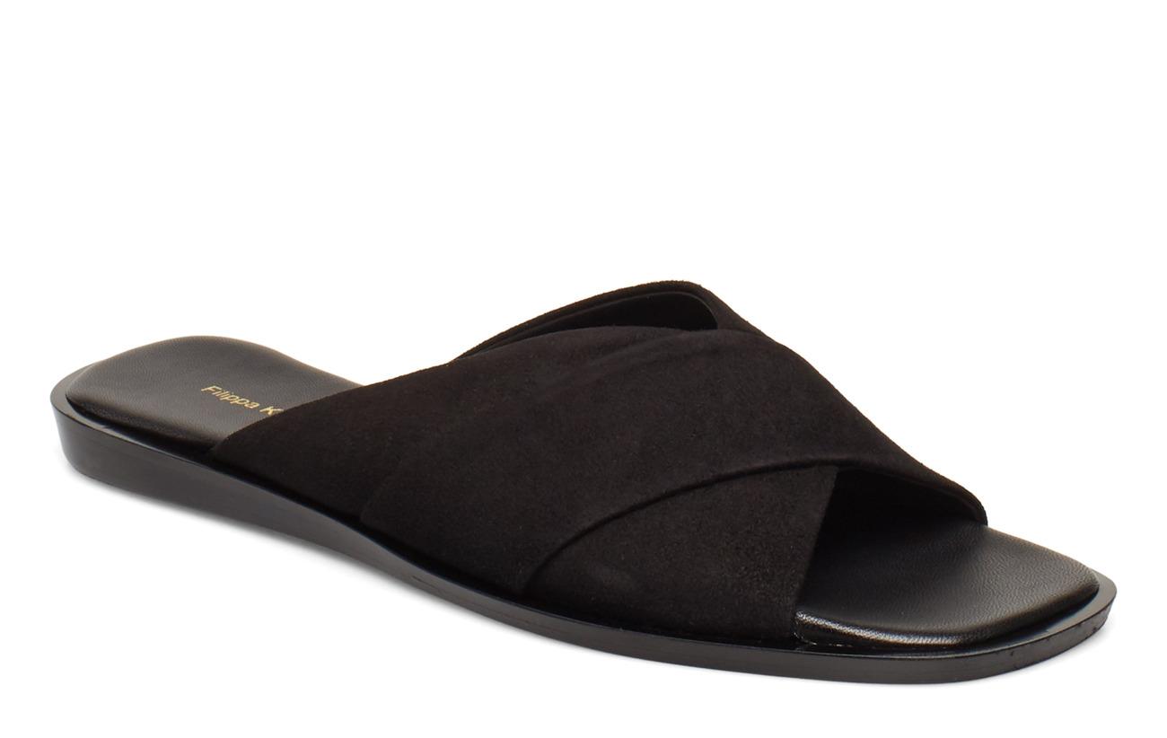 Filippa K Leona Cross Sandal - BLACK