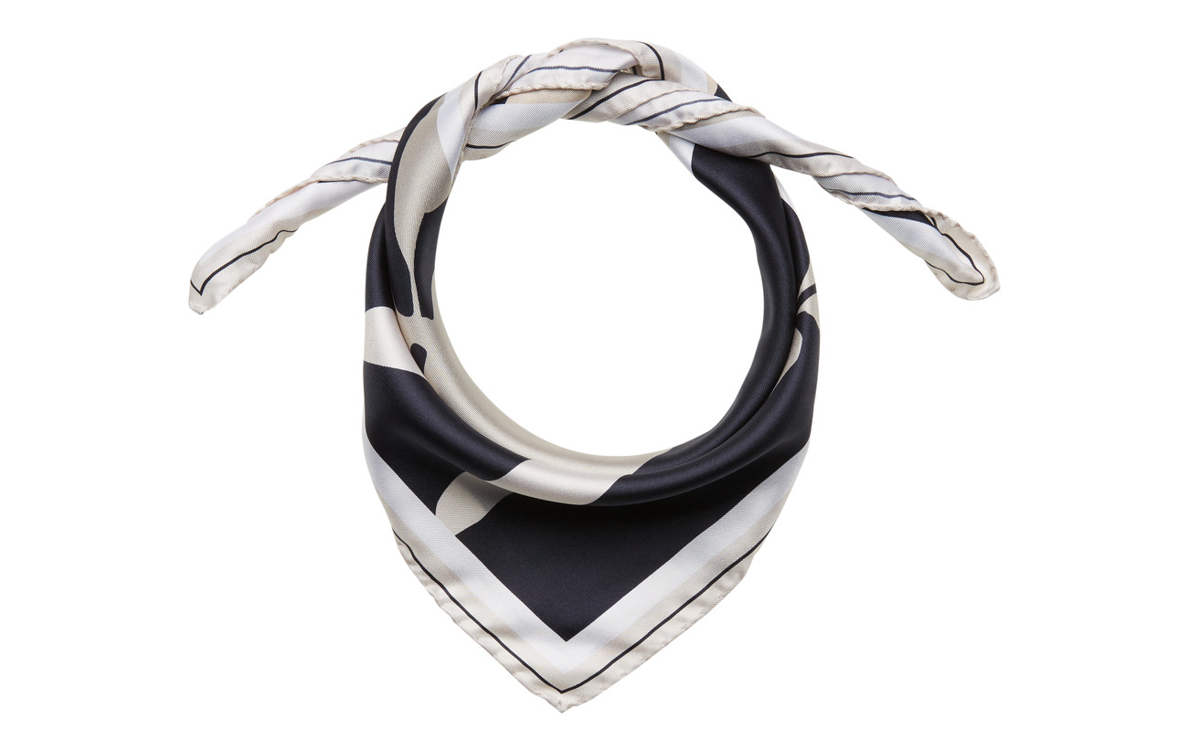 Filippa K M. Sandhamn Print Silk Scarf - NAVY PRINT