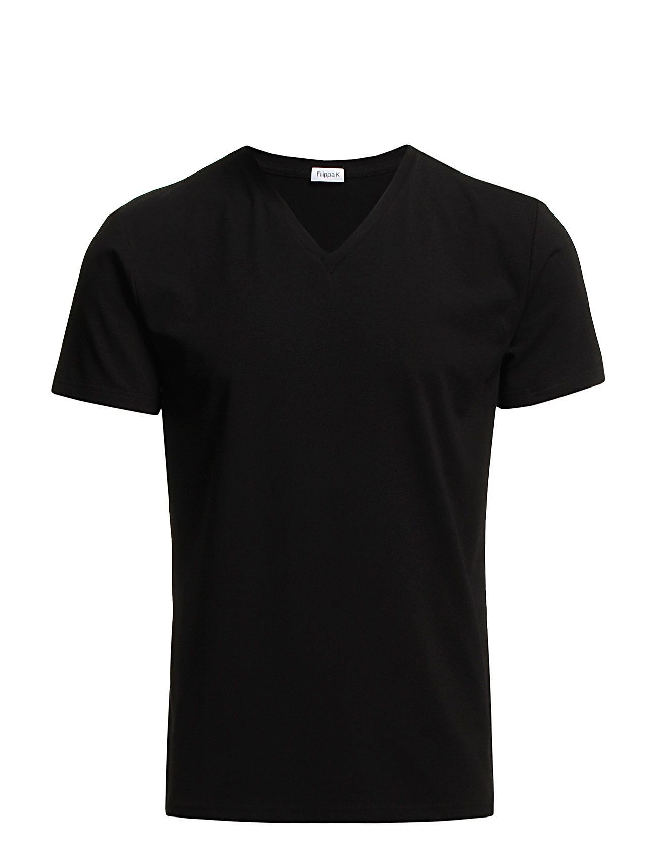 Filippa K M. Lycra V-Neck Tee - BLACK