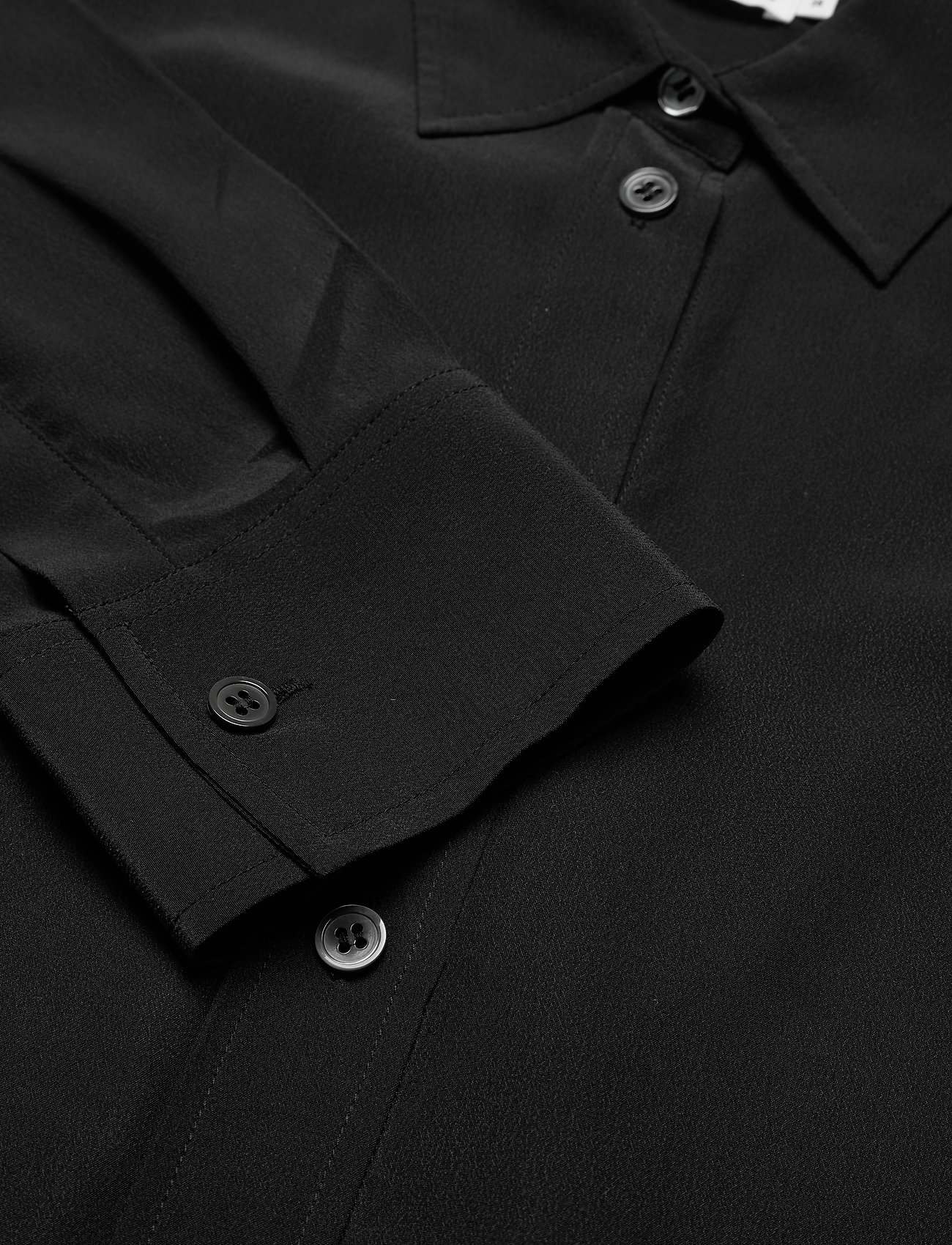 Filippa K - Classic Silk Shirt - dugim rękawem - black