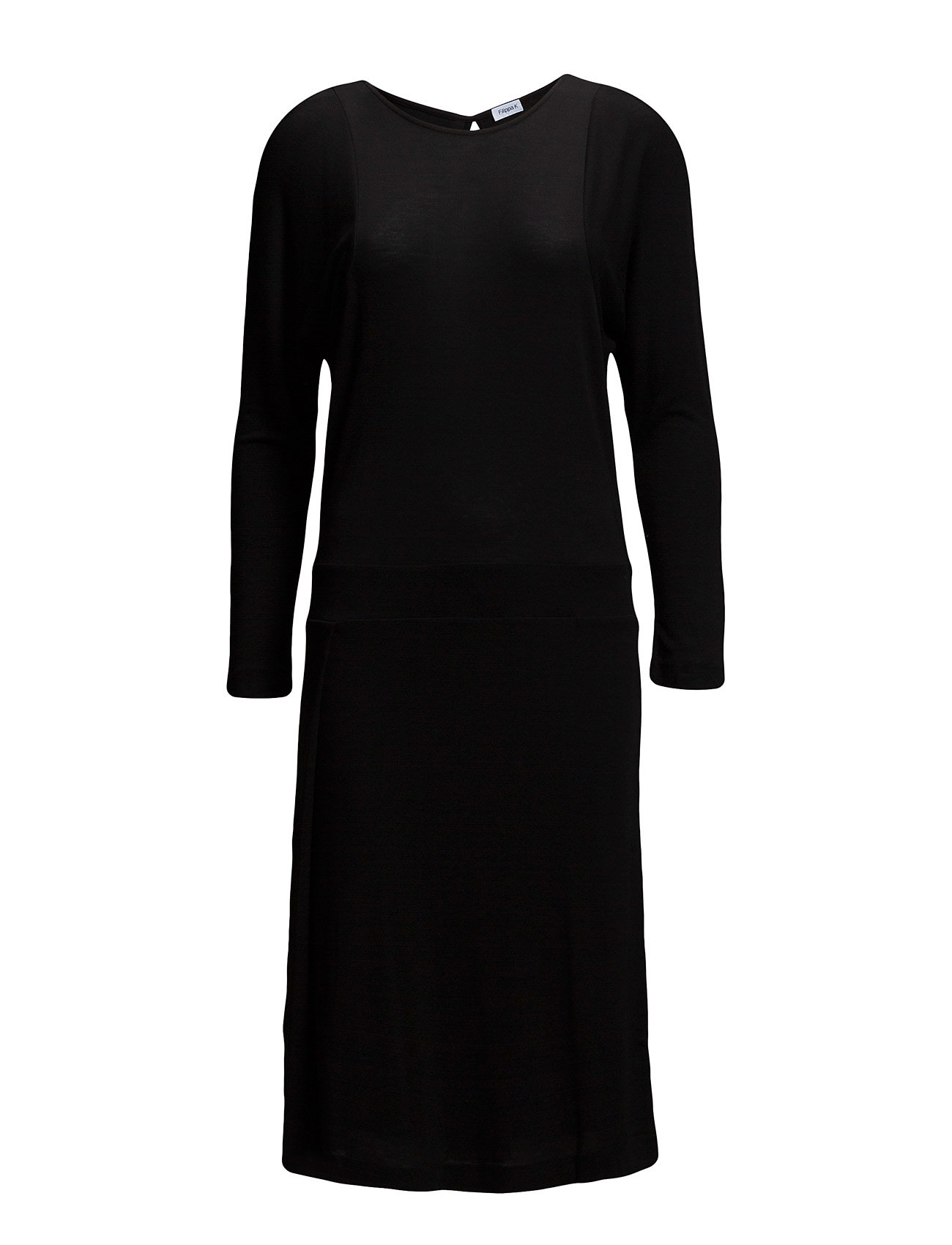 Filippa K Drapey Tencel Split Dress - BLACK