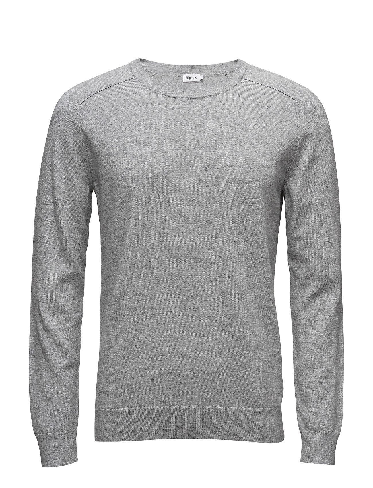 Filippa K M. Cotton Merino Sweater - LIGHT GREY