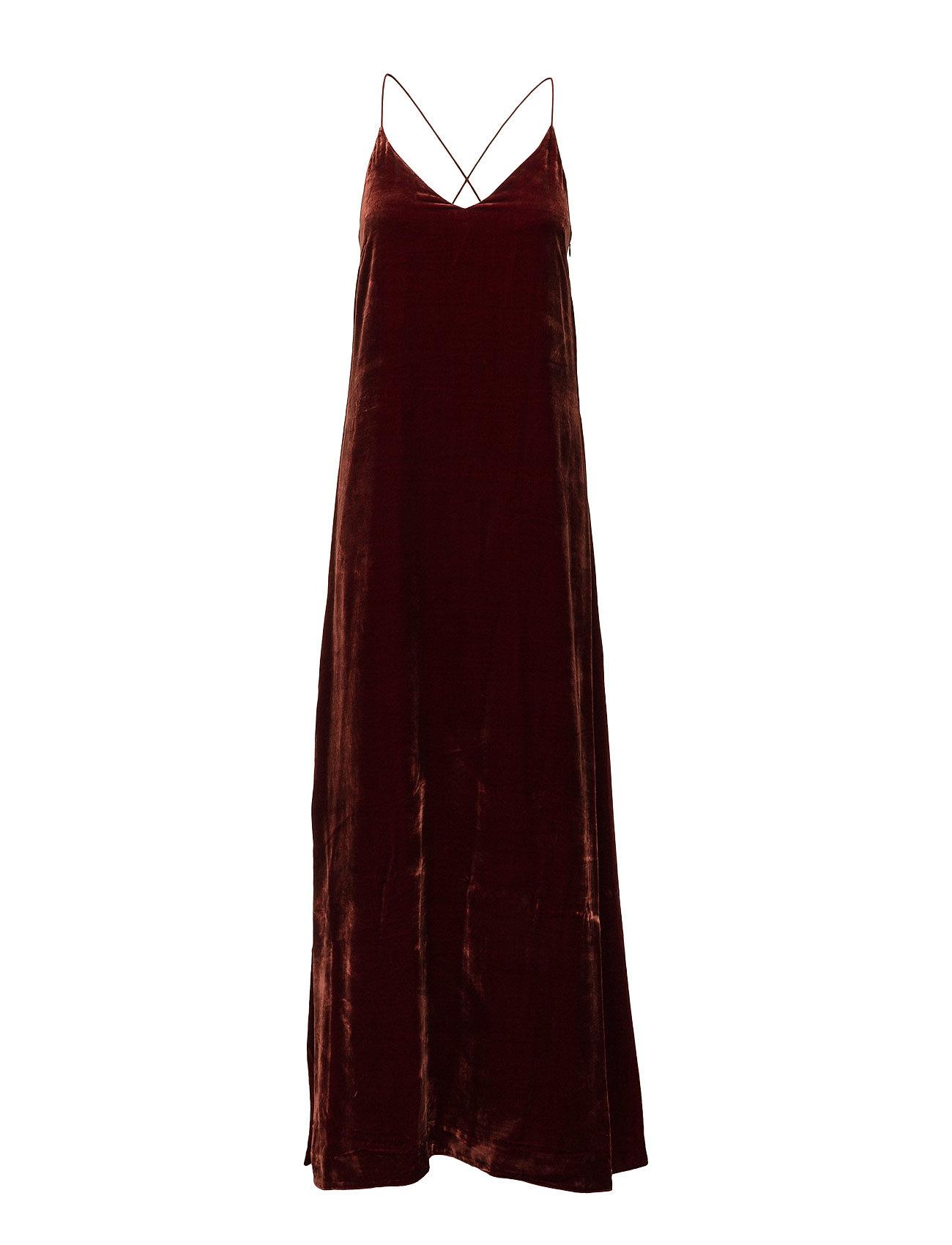 Filippa K Velvet Strap Dress - WARM RED