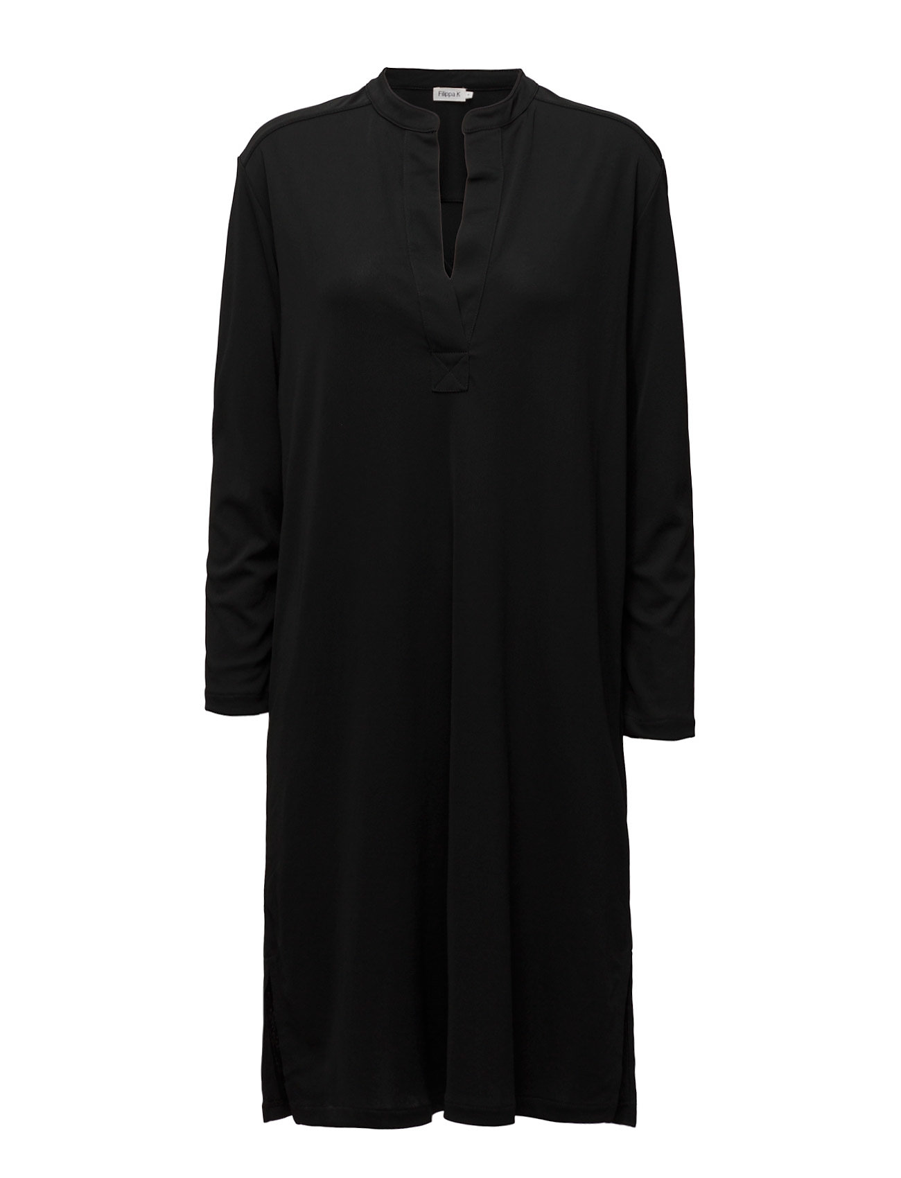 Filippa K Side Slit Tunic Dress - BLACK