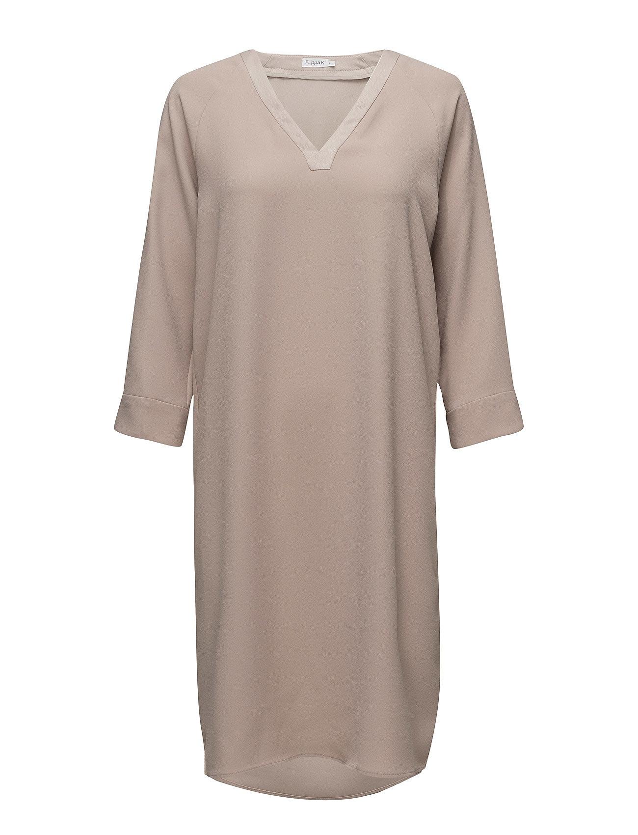 Filippa K V-Neck Tunic Dress - FAWN