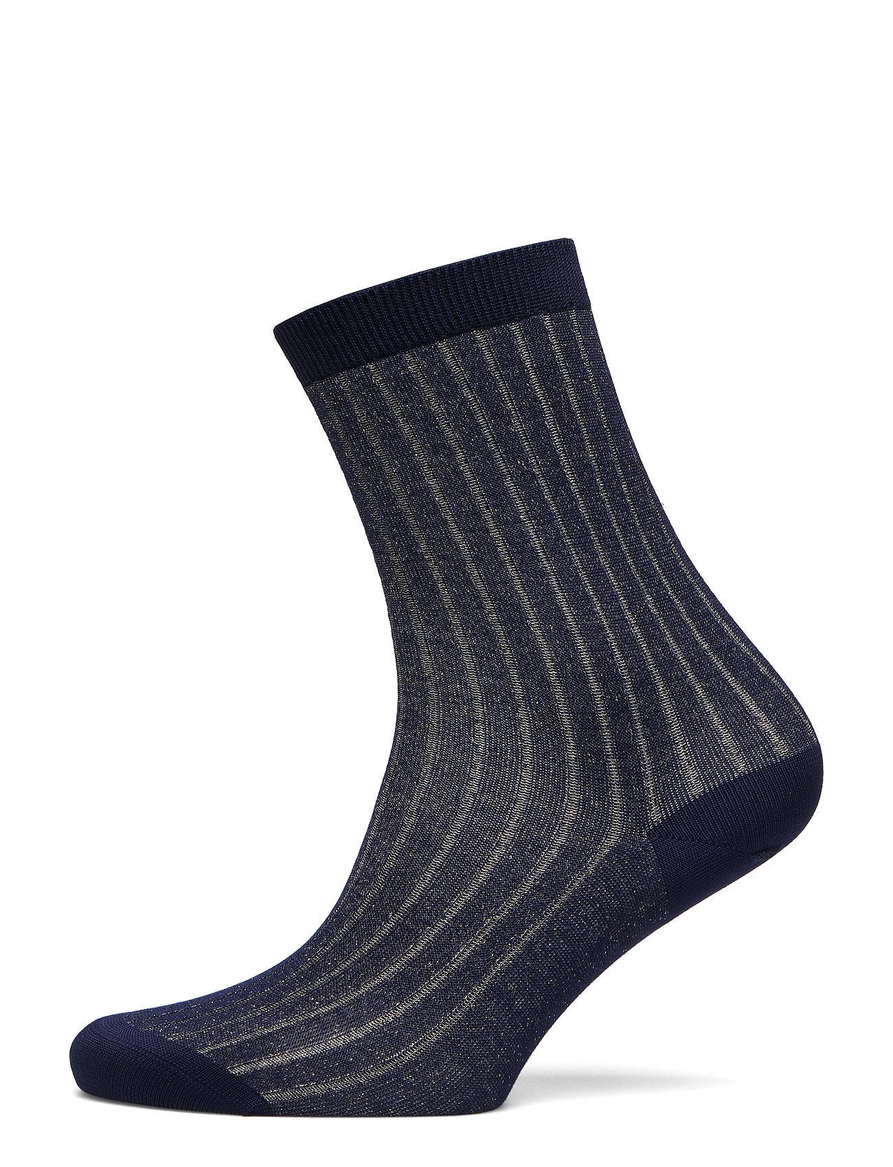 Filippa K Lurex Rib Sock - INK