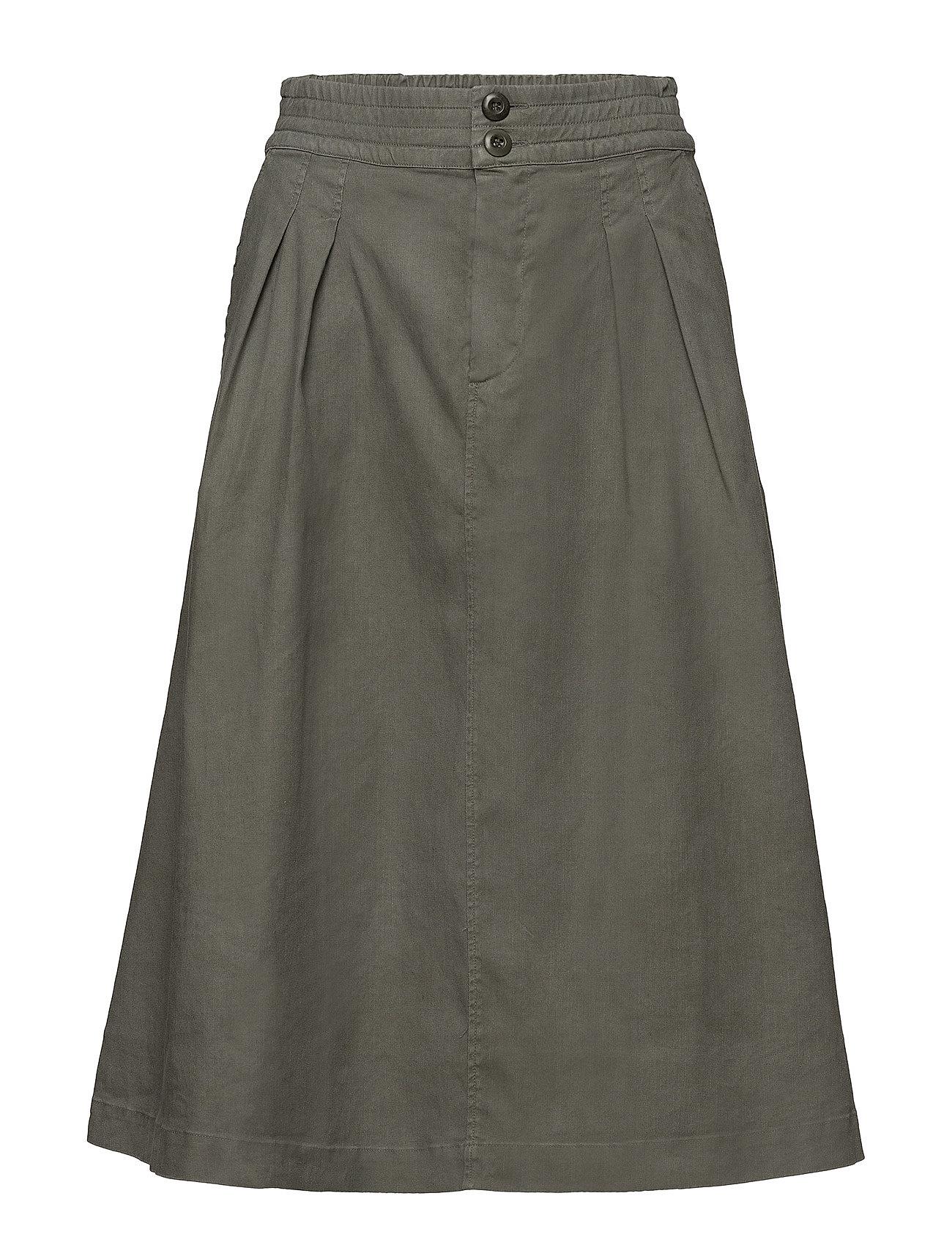 Filippa K Flared Pleat Skirt - SAGE