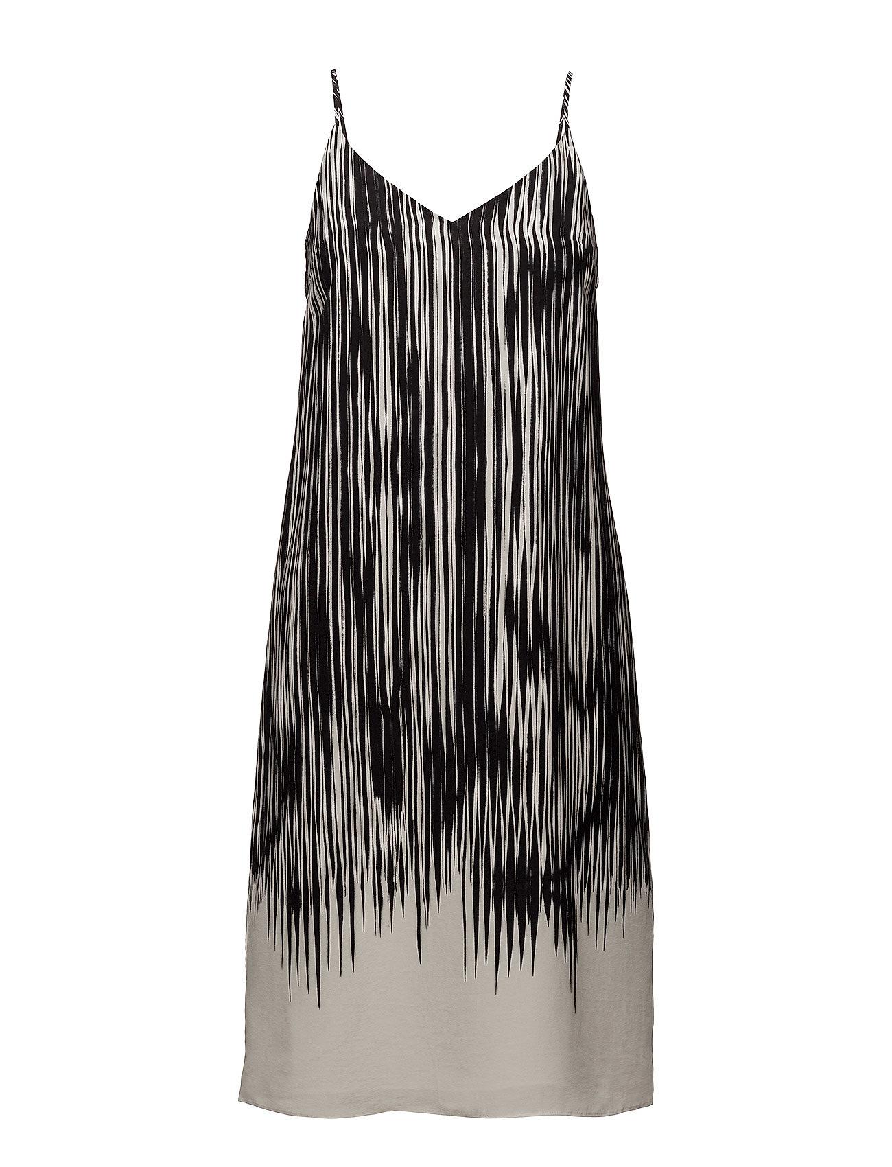 Filippa K Strappy Print Dress - BLACK ABST