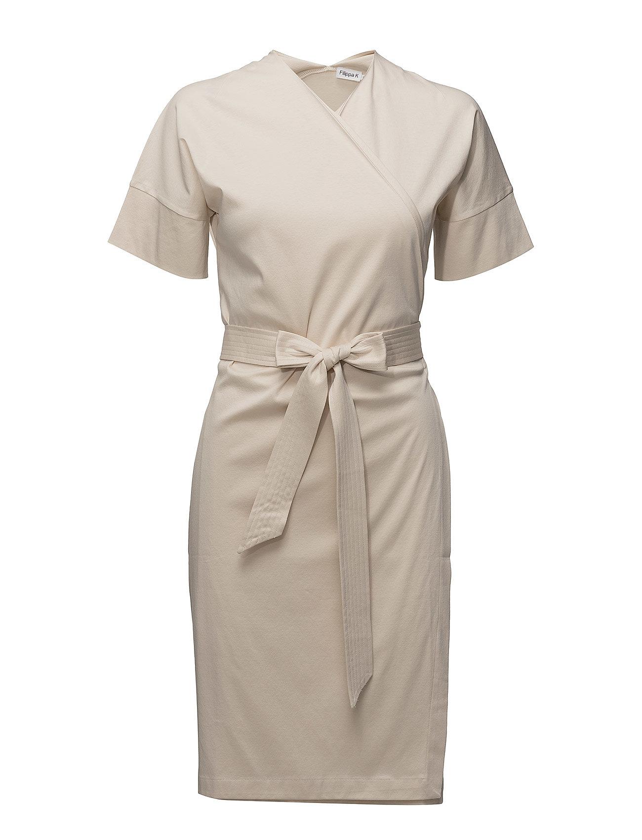 Filippa K Belted Wrap Dress - BONE