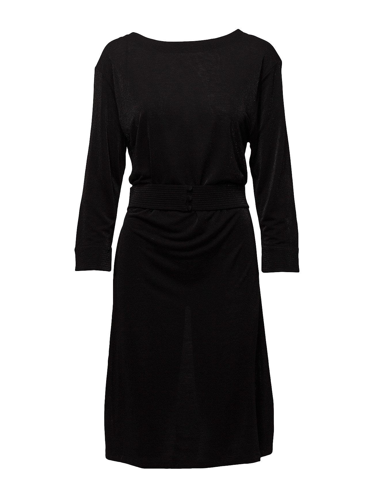 Filippa K Glitter V-neck Back Dress - BLACK