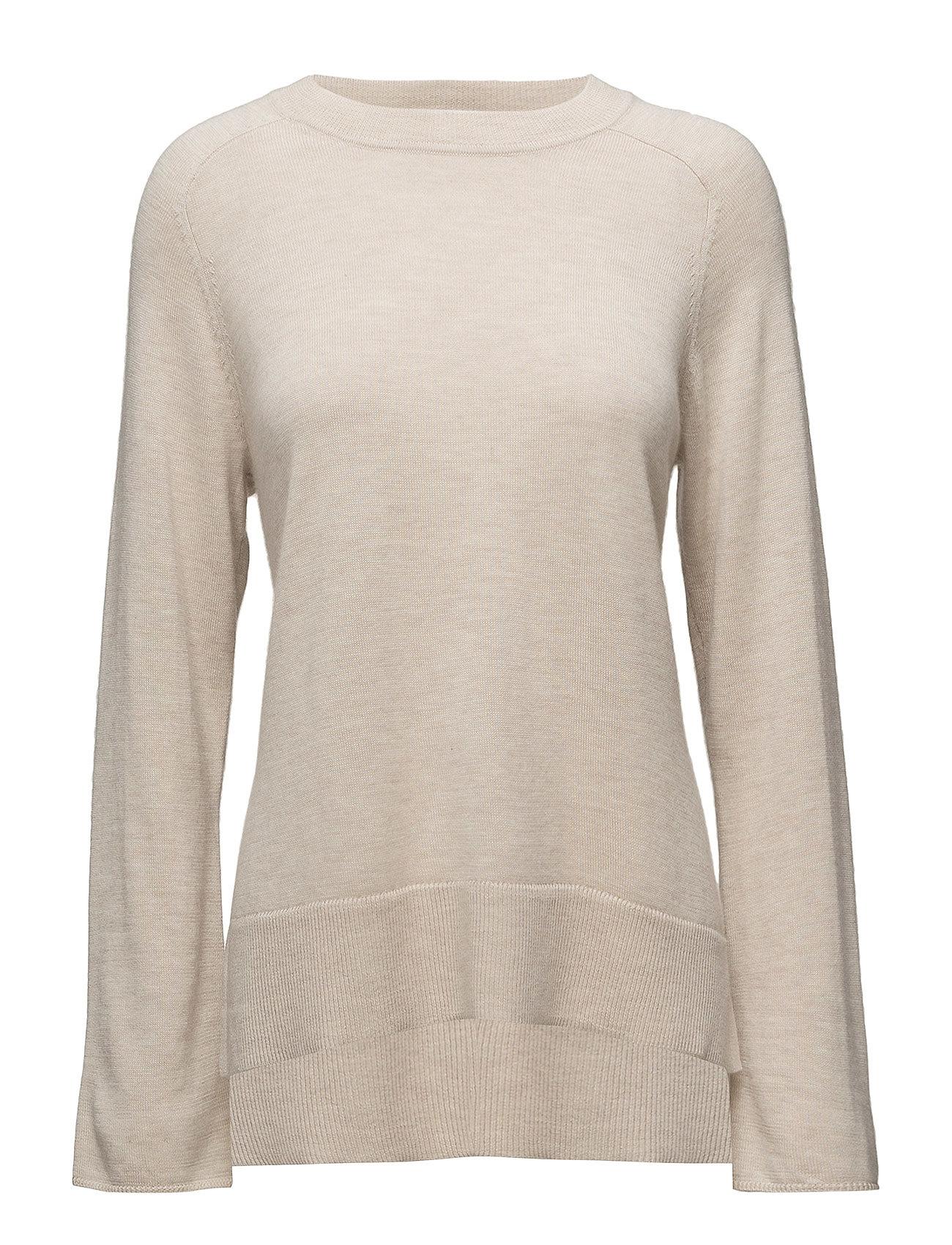 Filippa K Cashmere Split Sweater - BISQUE MEL