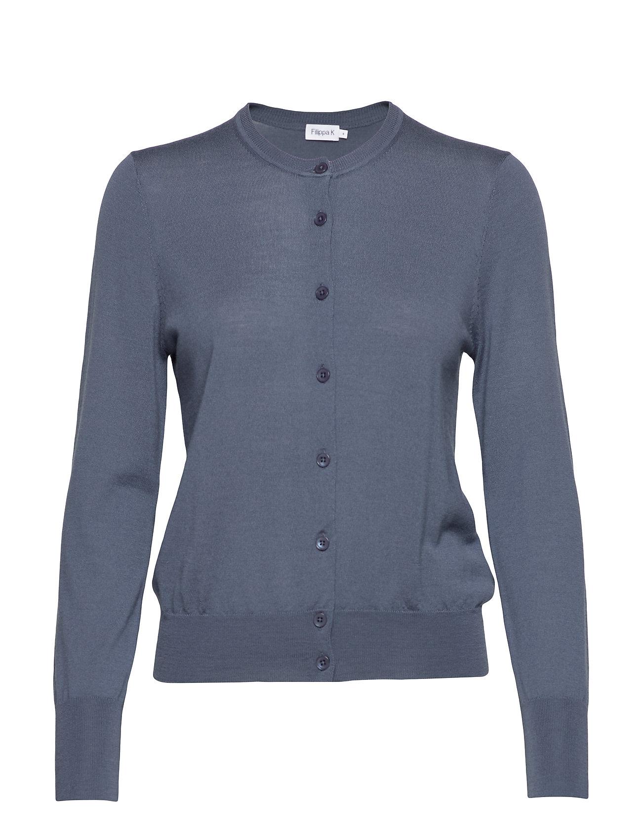 Filippa K Merino Short Cardigan - BLUE GREY