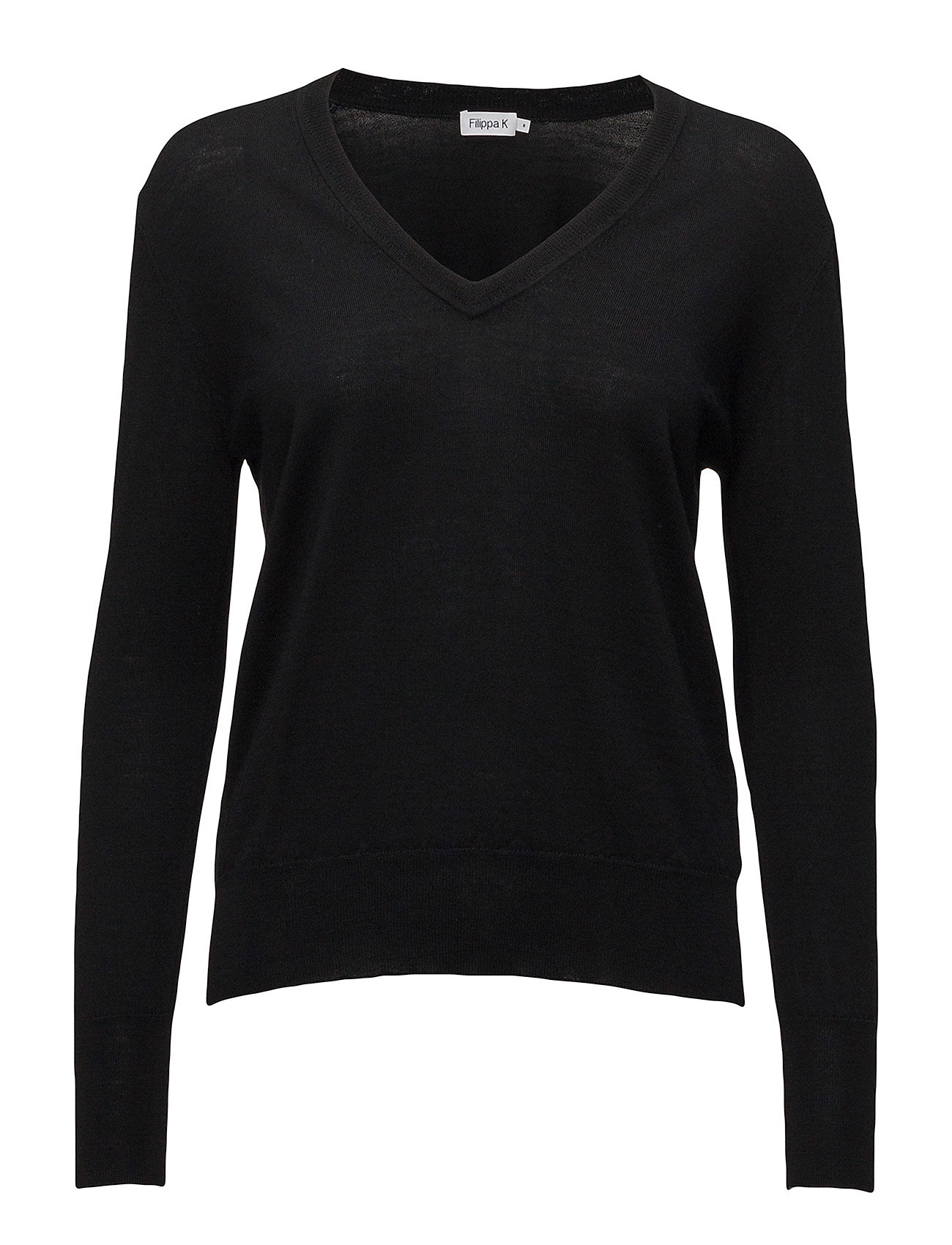 Filippa K Merino V-neck Sweater - BLACK