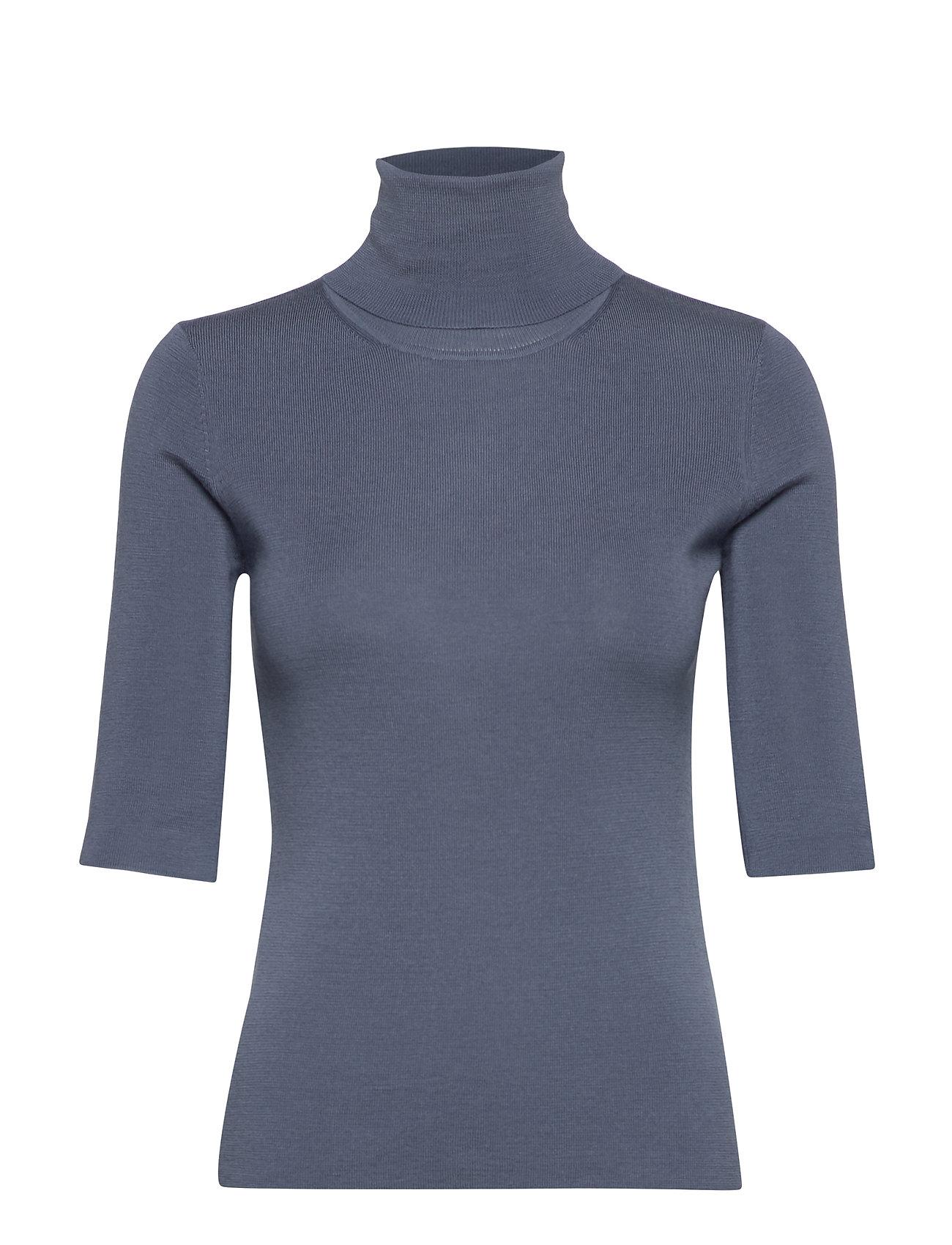 Filippa K Merino Elbow Sleeve Top - BLUE GREY