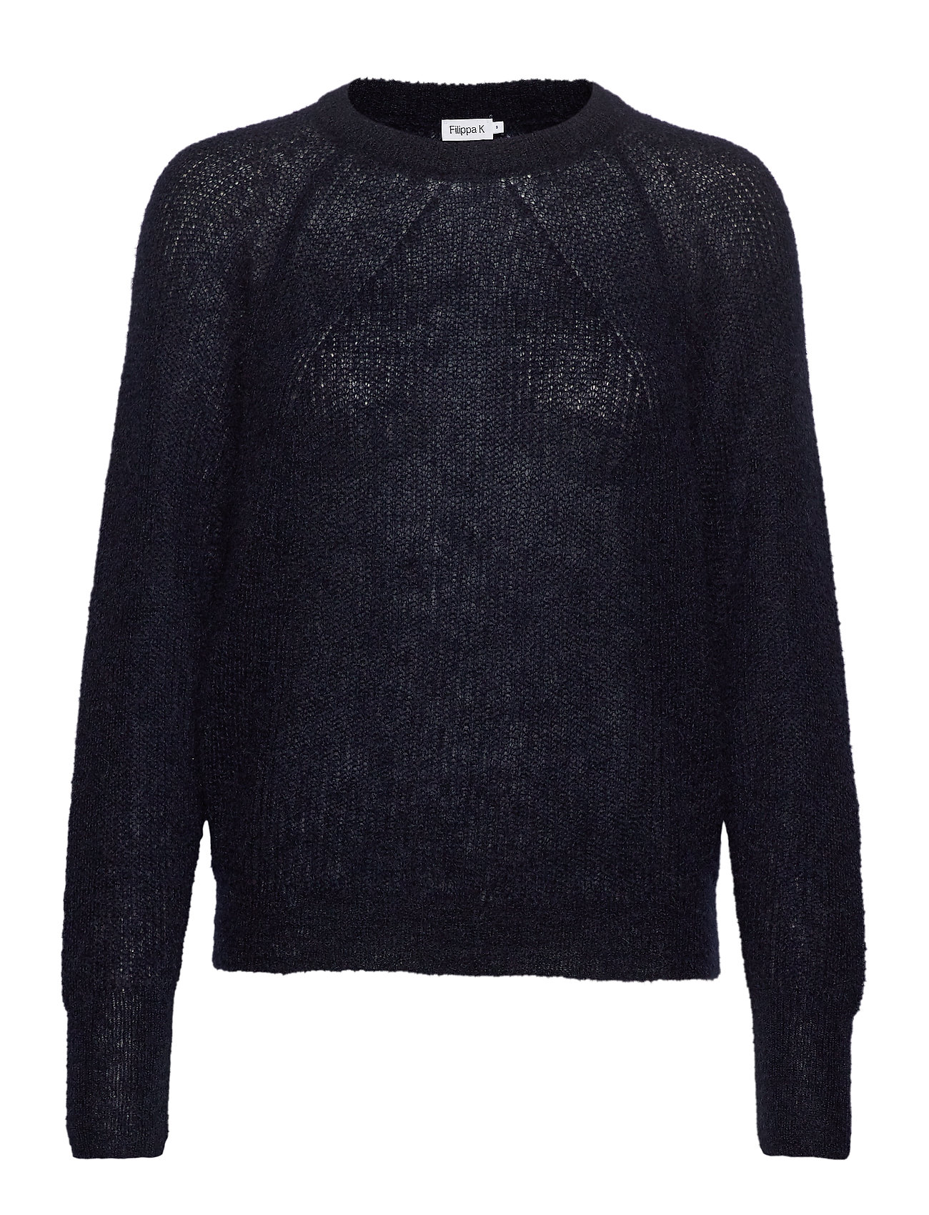 Filippa K Mohair R-neck Sweater - NAVY
