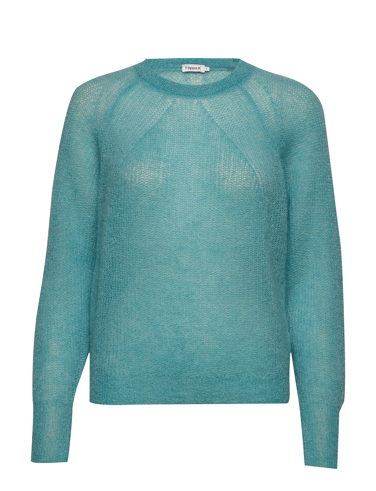 Filippa K Mohair R-neck Sweater - OCEAN REEF