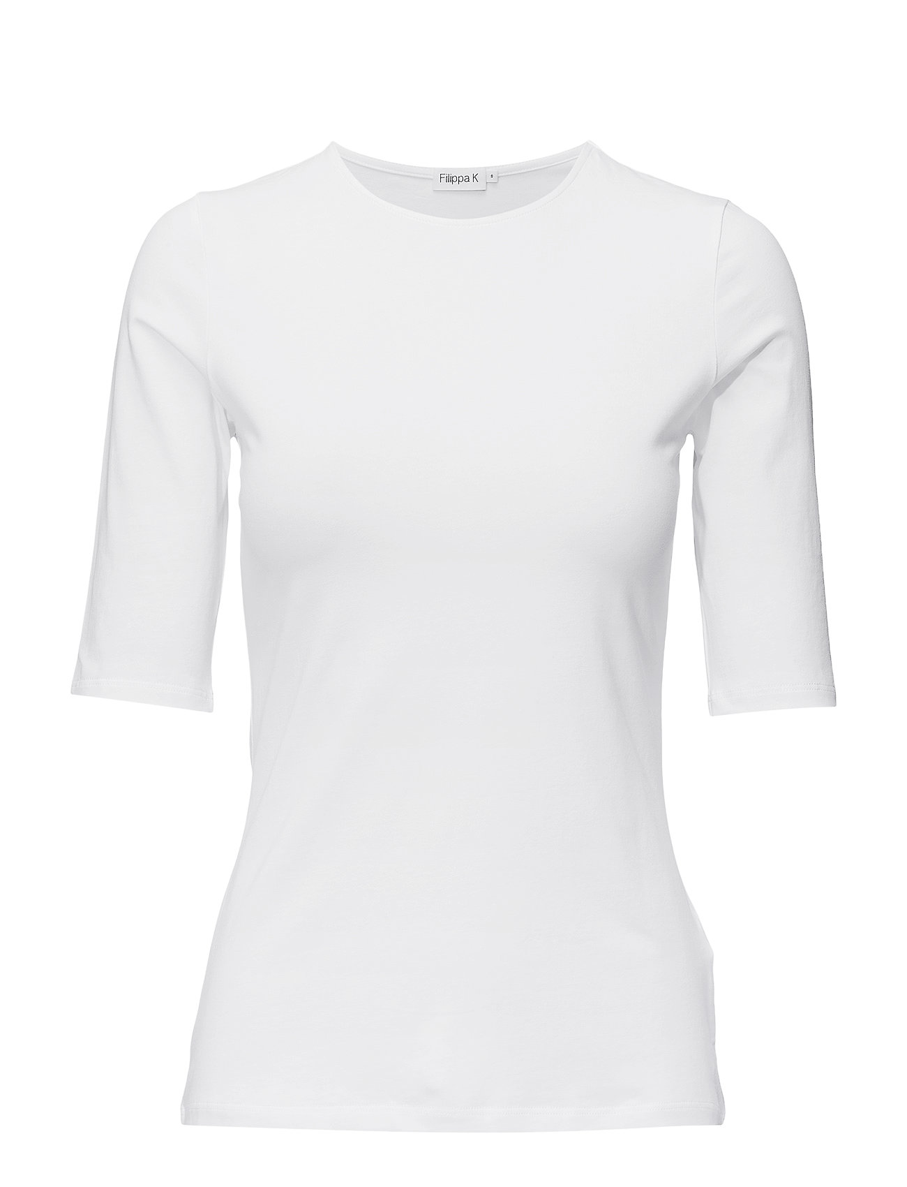 Filippa K Cotton Stretch Elbow Sleeve - WHITE