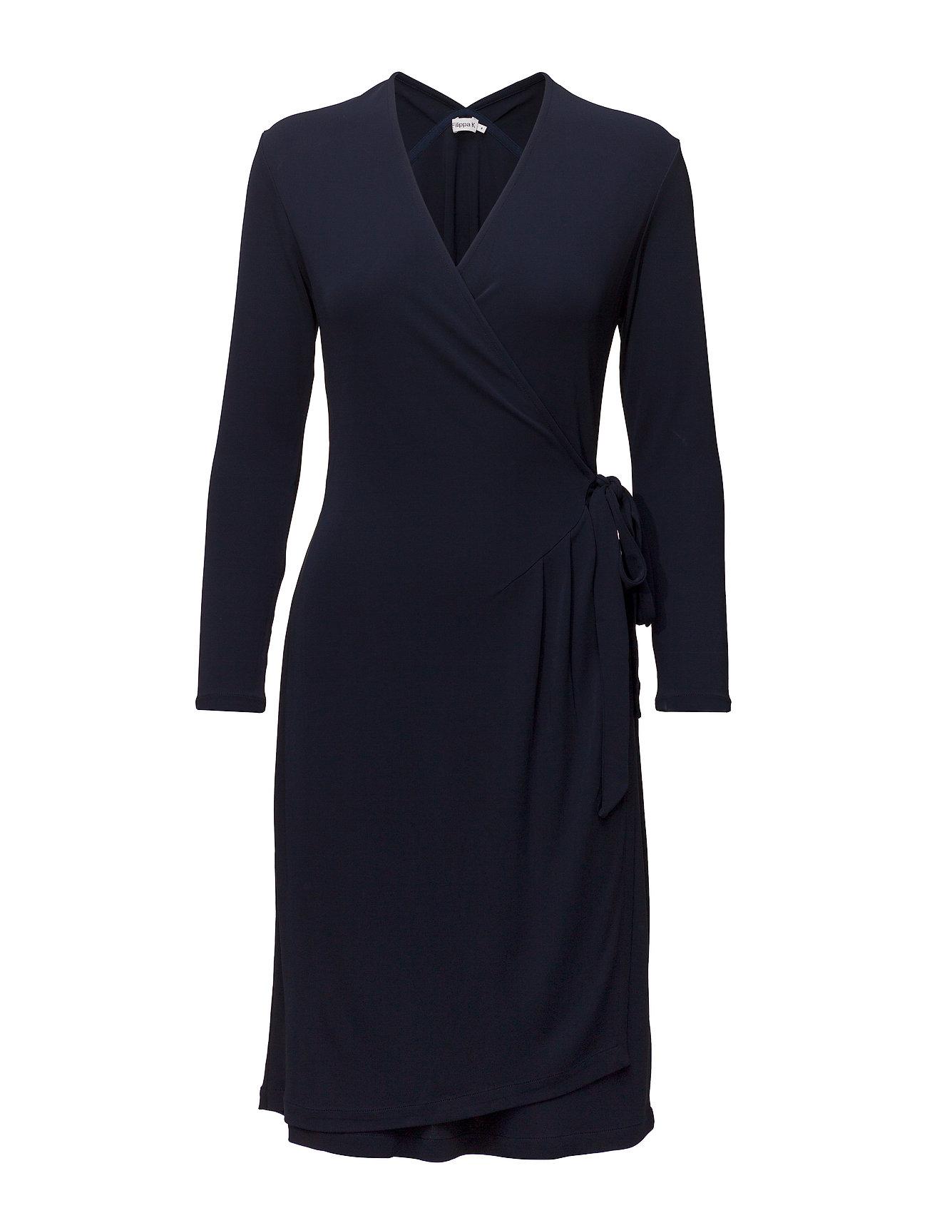 Drapey Crepe Wrap Dress (Navy) (£112.20) - Filippa K -  fd29de019b18