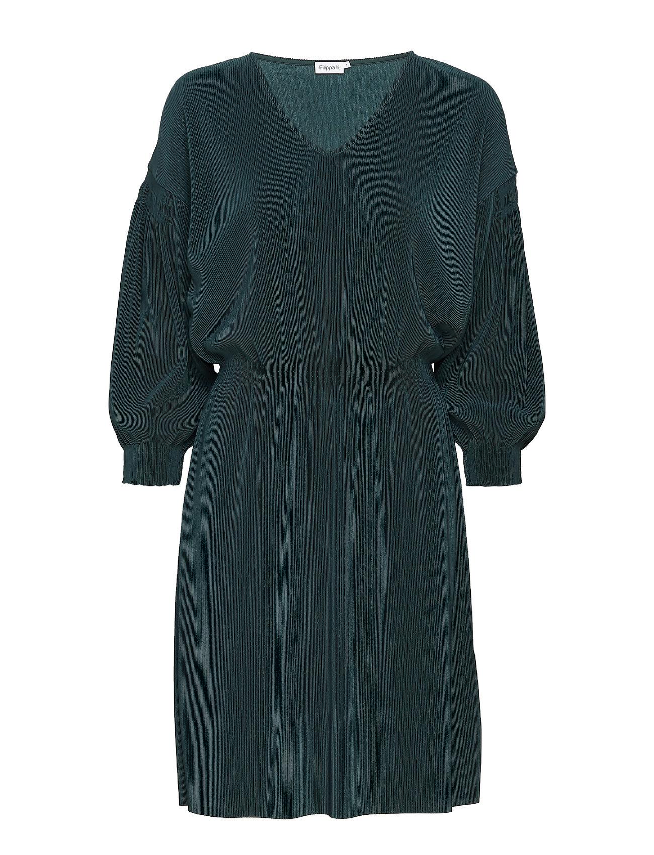 Filippa K Mini Pliss Evening Dress - EMERALD