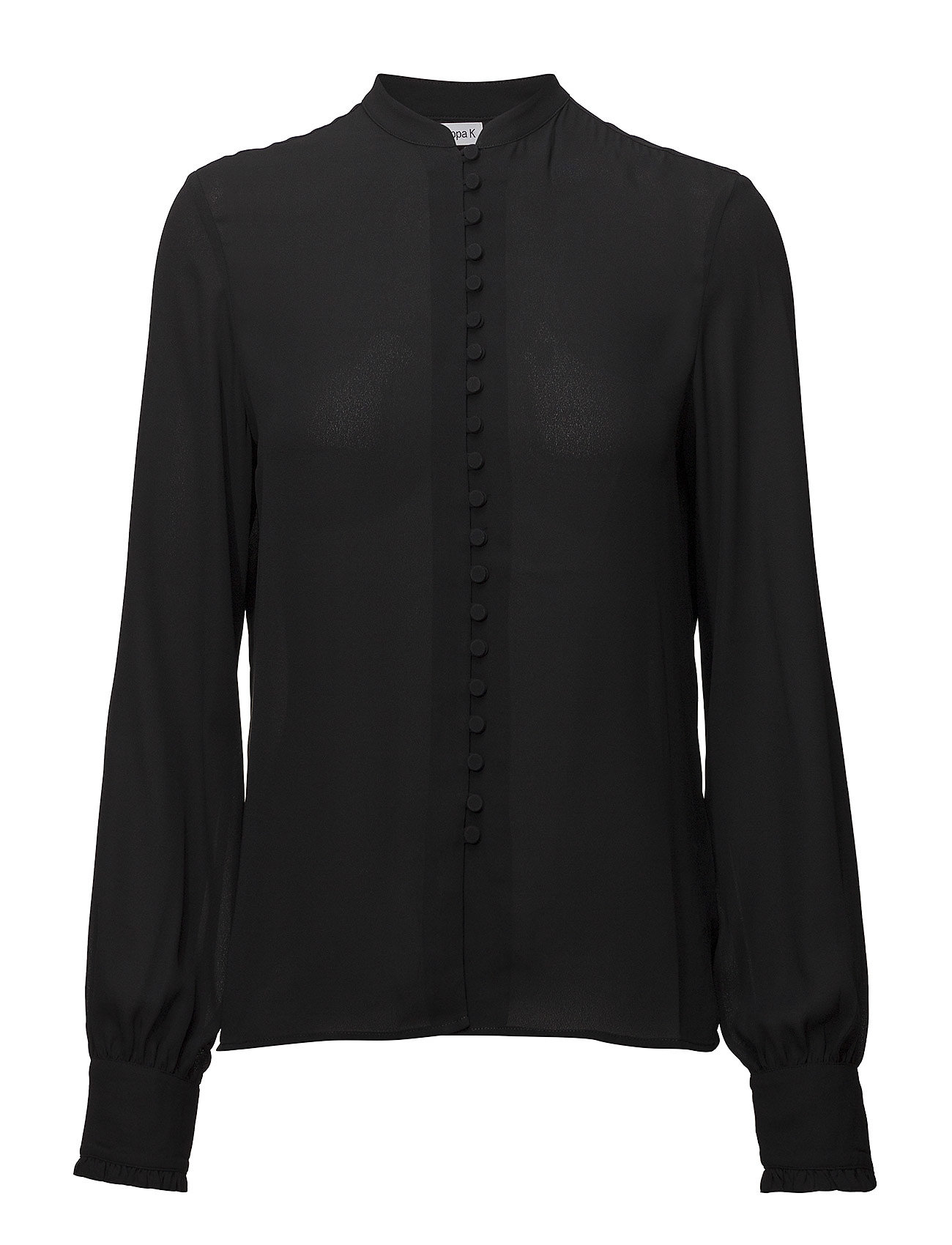 Filippa K Sheer Button Blouse - BLACK