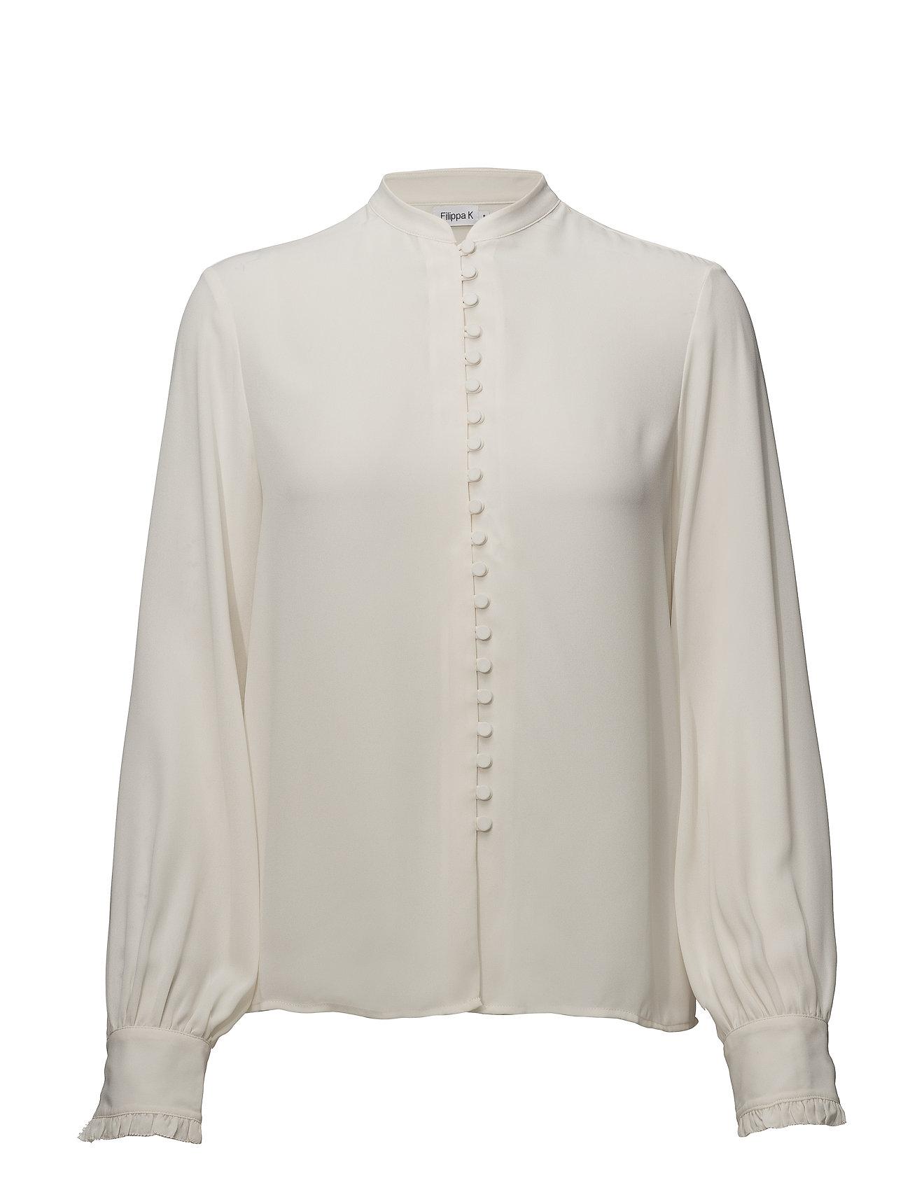 Filippa K Sheer Button Blouse - CREAM